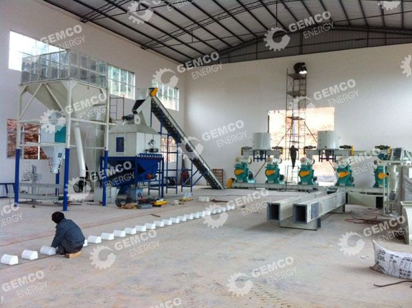 Ton wood pellet production line supplier